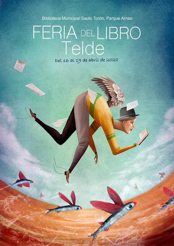Cartel realizado para la Feria del libro para Bibliotecas del Ayuntamiento de Telde.